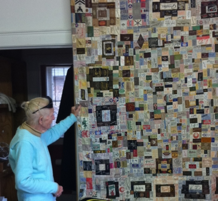 lady and quilt