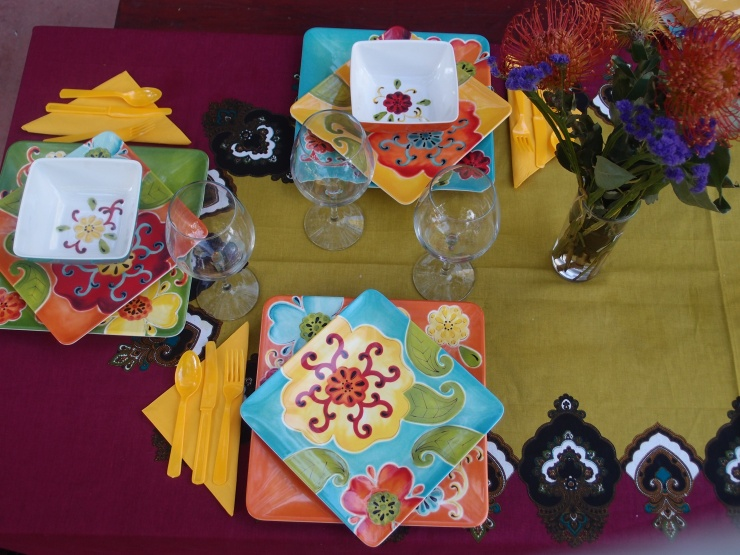 table setting/screen porch