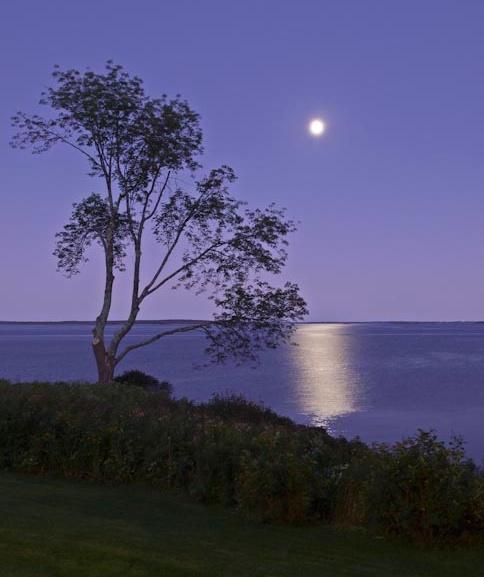 Moon over Penobscot 2 - Version 2