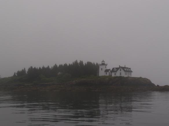 Indian Island, fog