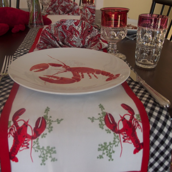lobster tablescape