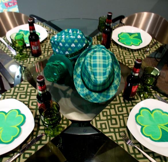 St. Patricks table