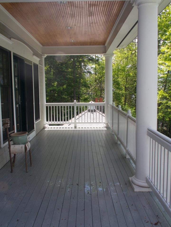 Maine house porch
