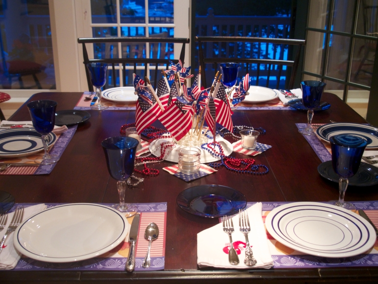 July 4 table