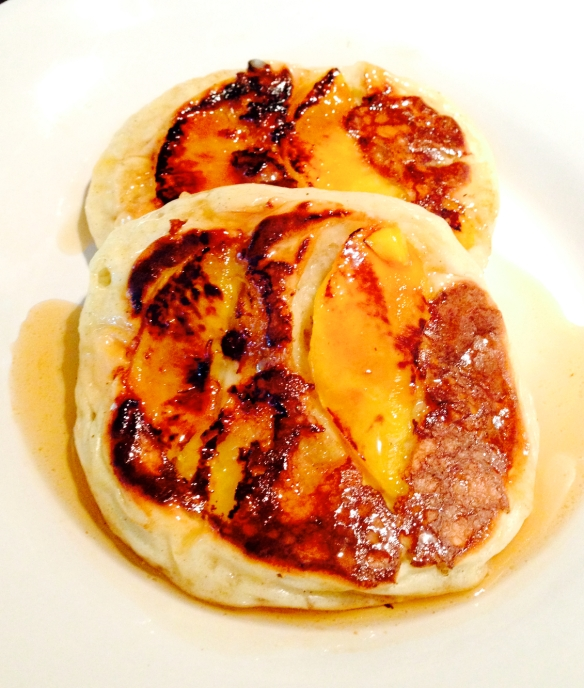 peach pancake/food