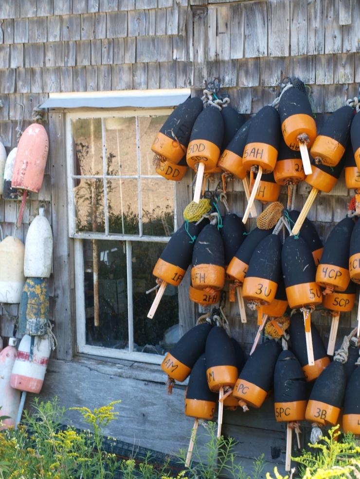 Eagle Island,lobster buoys