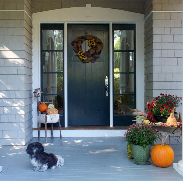 pumpkins/porch