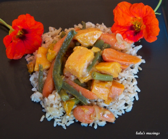 Curried Vegetables/Rice