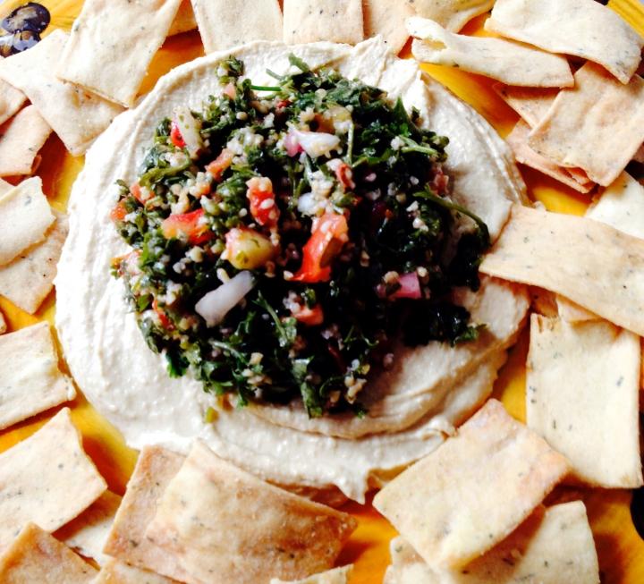 hummus and tabouli