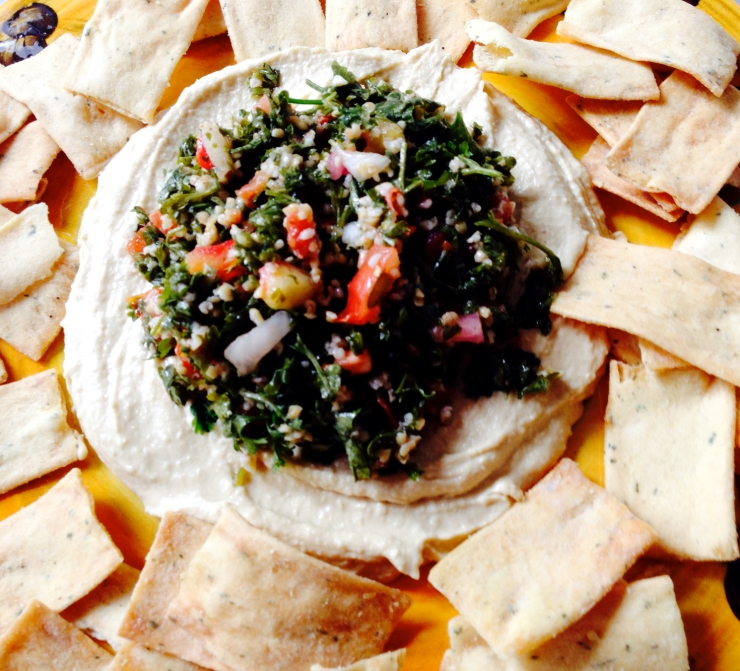 hummus and tabouli