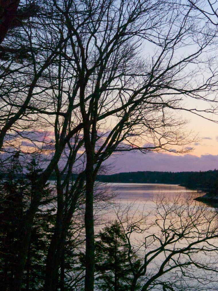 Rockport Harbor/winter/sunset