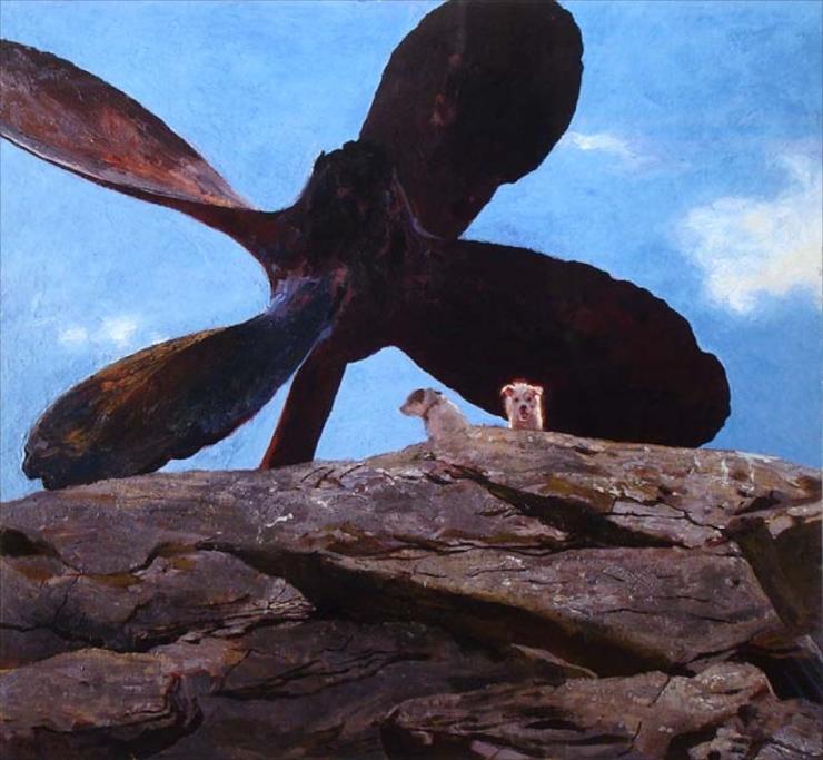 Wreck of the Polias  Jamie Wyeth