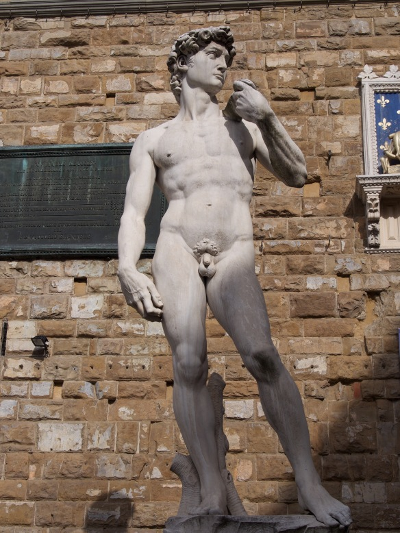David as he stands in Plazza della Signoria